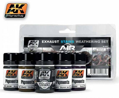 AK Interactive AKI 2037- Air Series Aircraft Exhaust Weathering Set