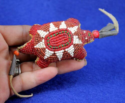 """Beaded Turtle Fetish"" Authentic Historic Artifact"