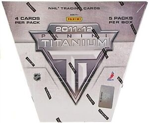 2011-12 Panini Titanium Hockey Trading Cards Hobby Box