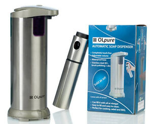 OLpure Automatic Hand Soap Dispenser Touchless Stainless Steel,