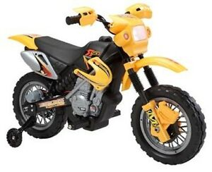 Electric Child Ride On Dirt Bike with Training Wheels, Music mor