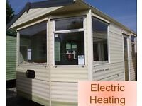 Static Caravan 36 x 12 ft 2 bedrooms, electric heating, great value at only £2,995!!