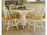 **NOW SOLD** Argos Kentucky Two Tone Extendable Dining Table.