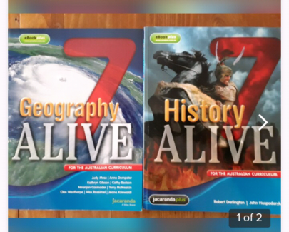 history Alive & Geograph Alive Year 7 School Books