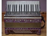 Vintage Italian accordion in perfect condition-with case and books