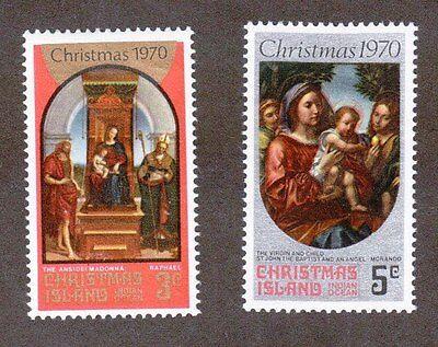 Christmas Island Scott 35 - 36 - Christmas 1970. MNH. OG.    #02 CI35