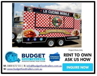 Food Trailer - Italian - Double Axle 3.8 Brisbane City Brisbane North West Preview