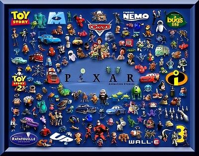 Disney Pixar Characters Cross Stitch Chart