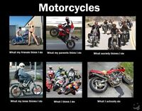 standard, sport motorcycle riding buddy and/or group