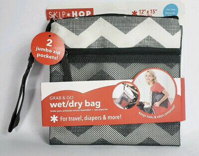 Skip Hop Waterproof Wet Dry Bag, Grab & Go, Chevron 205001