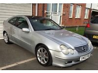 Stunning Silver 2002 Automatic Mercedes c220 Coupe CDI