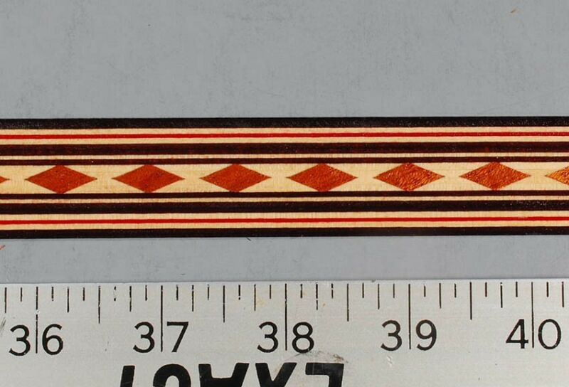 One inch - Running Diamond - Buffard Frères Marquetry Banding Strips (Inlay-90)