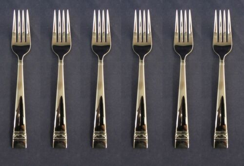 SET OF SIX - Wedgwood Stainless OBERON Salad Forks NEW