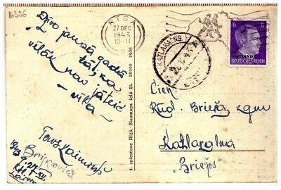"Latvia Lettland pc with cancel KATLAKALNS ""A"" 28.12.1943."