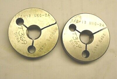 Dura 12 - 13 Unc 2a Thread Ring Gages Go - No Go
