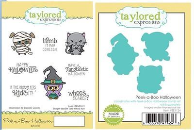 Taylored Expressions Stamp/Die Combo Set ~ PEEK-A-BOO HALLOWEEN  -112/1124 - Halloween Expressions