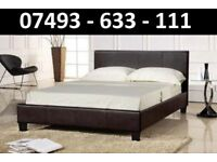 DOUBLE LEATHER BED + FREE 9 INCH MATTRESS