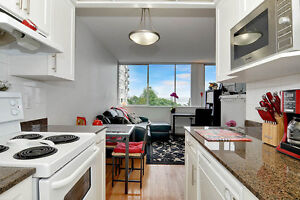 West End 7th Floor 1BD with Water View Beside English Bay!