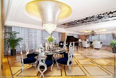 Dining Table - Modern Dining Room Table - Solid Birch Wood - Diana - Silver Birch Dining Room Table