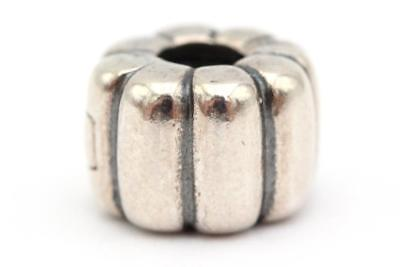 Pandora (790163) .925 Sterling Silver, Ribbed Clip Charm NEW