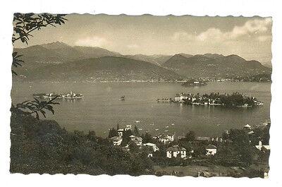 LAGO MAGGIORE PANORAMA DELLE ISOLE BORROMEE VIAGGIATA 1917