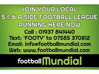 Teams Needed for NEW 6 A SIDE LEAGUE in BURTON ON TRENT on 3G PITCH!!