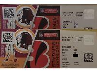 2 Tickets Redskins @ Bengals Wembley £50ea ono