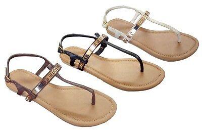 Foxy Wholesale Lot Women's Gladiator Sandals T-strap Meta...
