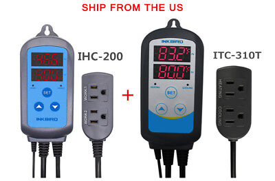 Pre-wried Temp Controller Timer Itc-310t Humidity Control Ihc-200 Hygrostat Us