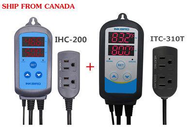 Digital Tempt Humidity Controller Set Thermostat Itc310t  Ihc200 110v Us Plug