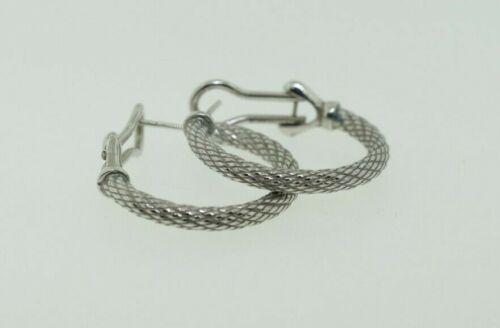 "Judith Ripka Sterling Silver Twisted Cable 1"" Hoop Earrings"