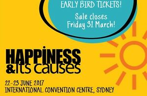 2 Tickets to Happiness & Its Causes Conference - Sydney Sydney City Inner Sydney Preview