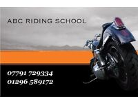 ABC MOTORCYCLE TRAINING - TRAIN AFTER WORK... MIN 2 HOURS TRAINING AVAILABLE OXFORD/AYLESBURY AREAS