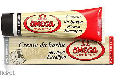 - Omega Shaving Soap with Eucalyptus Oil in Tube, Made in Italy - #45001  3.52 OZ.