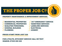 ☆☆ Handyman Services by The Proper Job Co ☆☆ Building ☆ Electrical ☆ Plumbing ☆ Joinery ☆ Flooring ☆