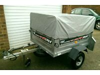 Erde 122 Trailer with high extension kit