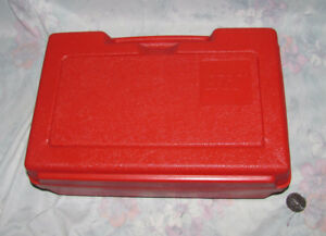 Vintage Lego Red Samsonite Plastic Tote, Case, Storage - Suitcas