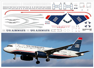 1/144 PAS-DECALS. ZVEZDA. Revell. AIRBUS A320 US AIRWAYS for sale  Deerfield