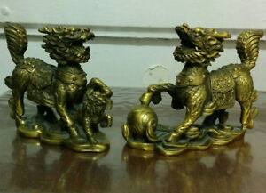 "A pair of Lucky Dragon.,H 4"" x L 4.5"" x W 1"""