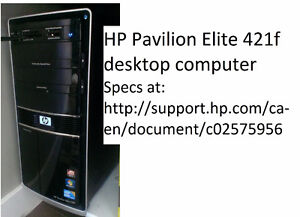 HP i7 Desktop and lcd monitor - reduced