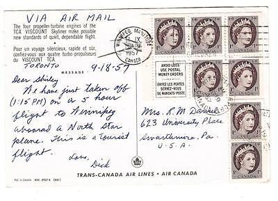 Canada Booklet Pane Sg 463A Full Pane 2Singles  Transcanada Air