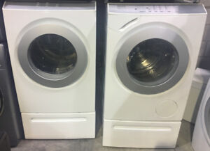 White front load washer&dryer $1499 Set Top Brand