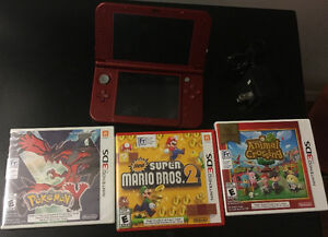 Nintendo 3DS XL, charger, games