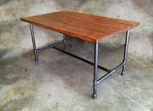 Industrial Style Pipe Leg Tables – Your size, colour, & style.