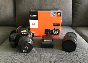 Sony a37 16.1 MP Digital SLR Kit w/ Two Lenses