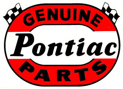 Genuine Pontiac Parts Hot Rat Rod Drag Racing Decal Sticker Genuine Pontiac Parts