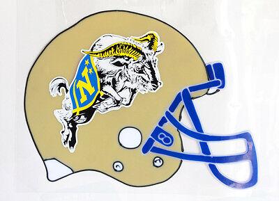 "Lg United States Navy Military 12"" Helmet Window Cling Ram Blue Yellow Flag"