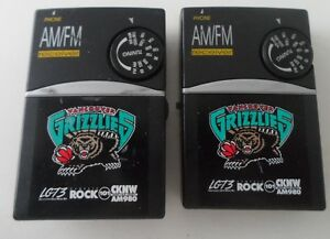 Vancouver Grizzlies AM/FM Pocket Radios