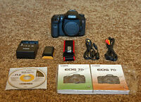 like new canon EOS 7D dslr body with accessories(3000 clicks)