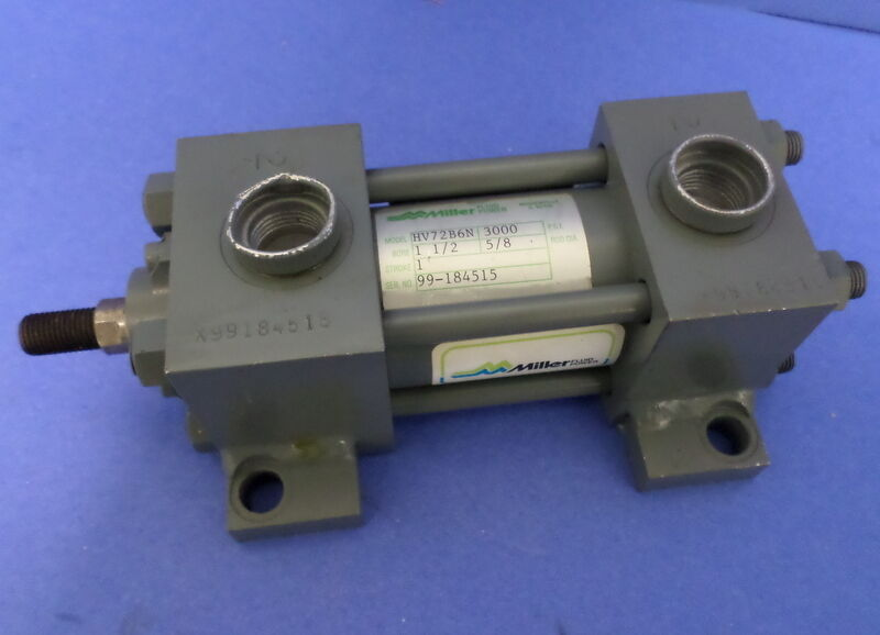 "MILLER, HYDRAULIC FLUID POWER CYLINDER, 3000 PSI 1 1/2"" BORE . 1"" STROKE, NNB"